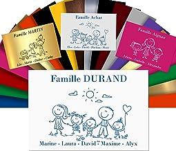 Huisnummerplaat, personaliseerbaar, voor brievenbussen – PVC-bord met gravure – 12 x 8 cm – 24 motieven en 21 kleuren verk...