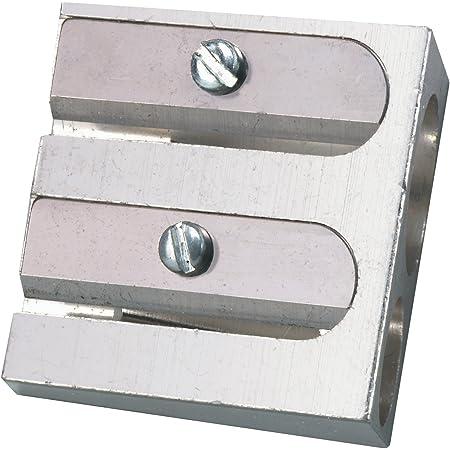 Herlitz Temperamatite Doppio, Alluminio -Per Matite Rotonde, Disegno Tecnico, Prodotto in Germania