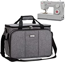 HOMEST Sewing Machine Carrying Case with Multiple Storage Pockets, Universal Tote Bag with Shoulder Strap Compatible with Most Standard Singer, Brother, Janome, Grey (Patent Pending)