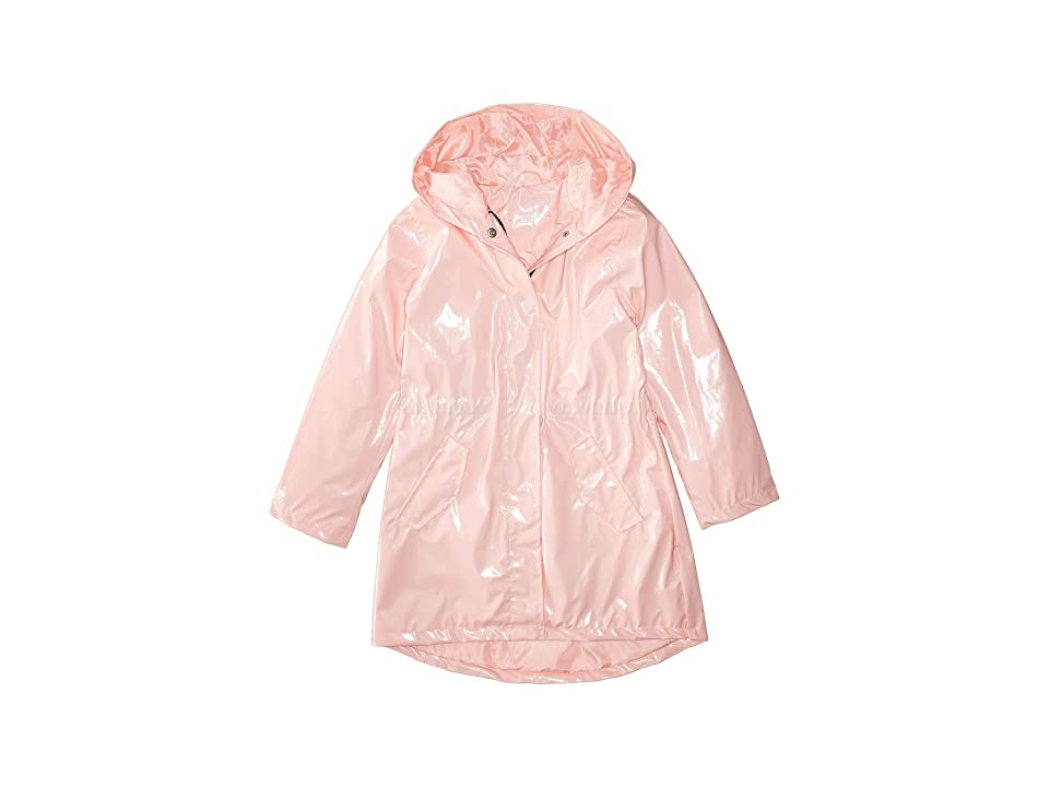 Urban Republic Kids Raincoat Patent Faux Leather Anorak Jacket (Little Kids/Big Kids) (Pink) Girl