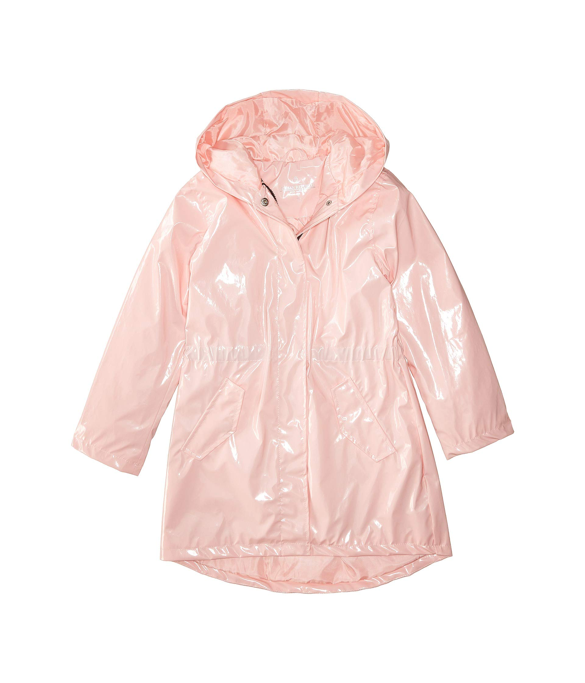 Urban Republic Kids Girl's Raincoat Patent Faux Leather Anorak Jacket (Little Kids/Big Kids)