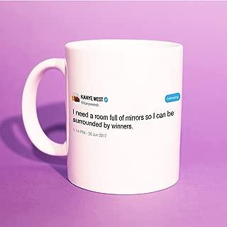 Kanye West39;Surrounded By Winners39; Tweet Mug (Kanye Coffee Mug, Yeezy, Kanye West Gift, Kanye Quote, Kanye Gift, Kanye Loves Kanye) BB050