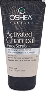 OSHEA Activated Charcoal Face Scrub, 120 g