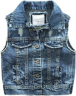Fashion Boys Casual Ripped Denim Stylish Sleeveless Jacket Vest