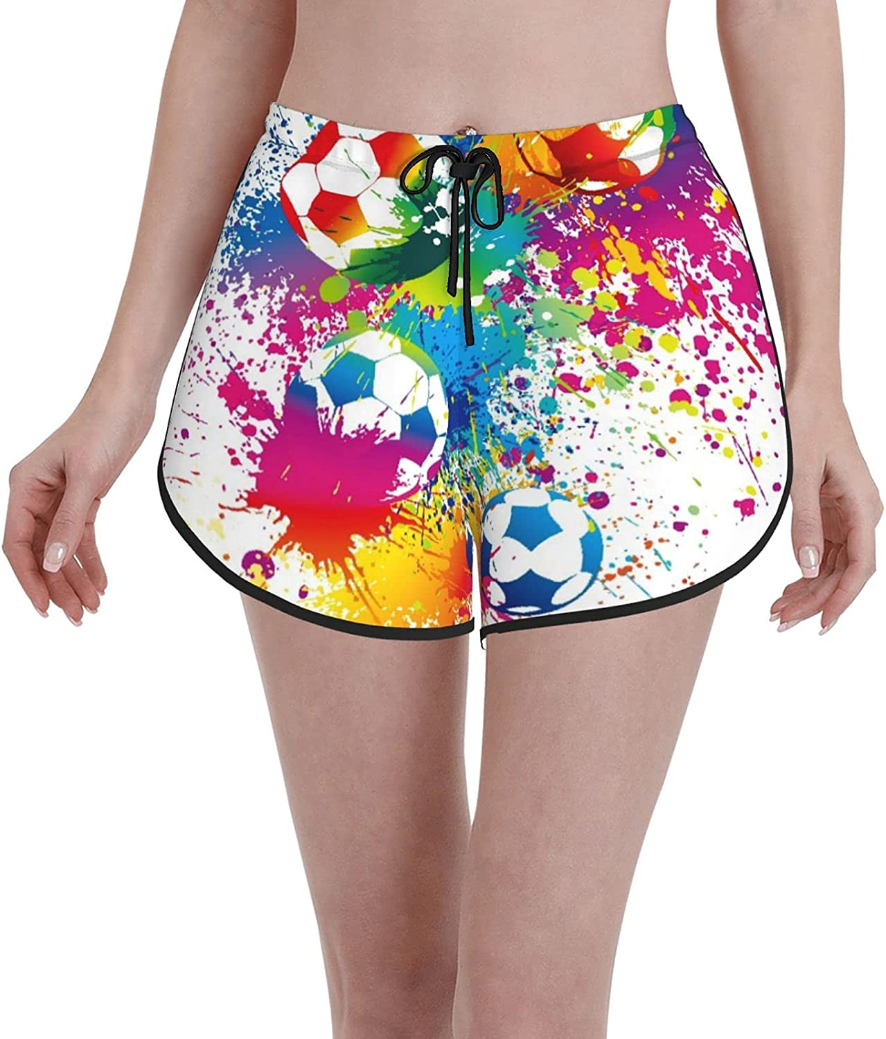 sale Comfortable Casual Board Shorts for Girls Women Surprise price Colored Splashes
