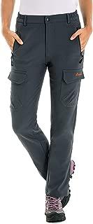 Clothin Women's Fleece-Lined Soft-Shell Cargo Pants - Water-Repellent, Wind-Resistant