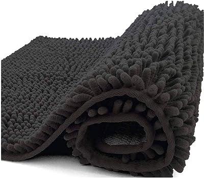 シェニール浴室敷物,非常に柔らかく吸収性のある毛むくじゃらのバスルームマット洗濯機で浴槽を乾かす, シャワー, そしてバスルーム-C-80x160cm(31x63inch)