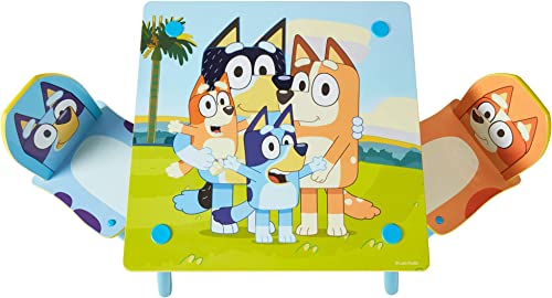 Bluey Kids Table and 2 Chairs Set Table and Chair Set