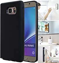 [ Monca ] Anti Gravity Cellphone Case [Black] Magical Nano Technology Stick to Wall, Glass, Whiteboards, Tile, Smooth Flat Surfaces (Goat Case for Galaxy Note 5)