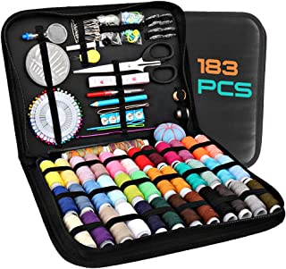 Sewing Kits for Adults, Kids, Beginners, Travel, Akaru 183 DIY Sewing Kit Supplies Including Professional Sewing Accessori...