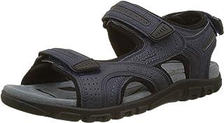 Geox Men's Strada 27 Touring Sandal Sport, navy/grey, 44 Medium EU (11 US)