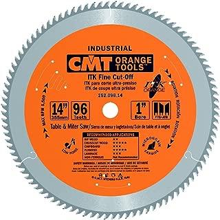 CMT 252.096.14 ITK Industrial Fine Cut-Off Saw Blade, 14-Inch x 96 Teeth 1FTG+2ATB Grind with 1-Inch Bore