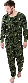 XSS Mens Cosy Fleece All in One Piece Pyjamas Jump Sleep Suit Onesie PJs Nightwear