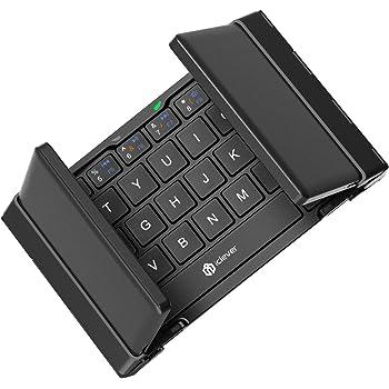 iClever 折りたたみ Bluetooth キーボード 軽量 薄型 ワイヤレスキーボード 充電式 iPhone/iPad/Andriod 対応 IC-BK03 black