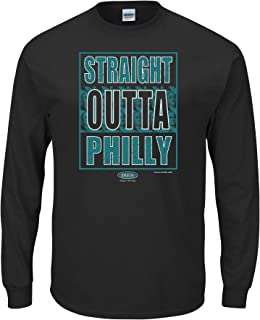 Philadelphia Football Fans. Straight Outta Philly Black T-Shirt (Sm-5X)