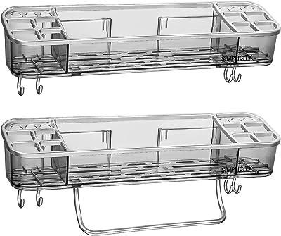 No Drilling ODesign Shower Caddy Basket Shelf with Hooks