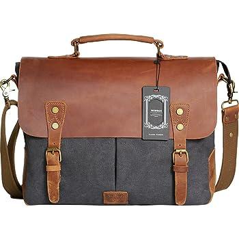 Briefcase Messenger Shoulder Bag for Men Women Laptop Bag Cats Pattern Against Blue 15-15.4 Inch Laptop Case College Students Business People Offic