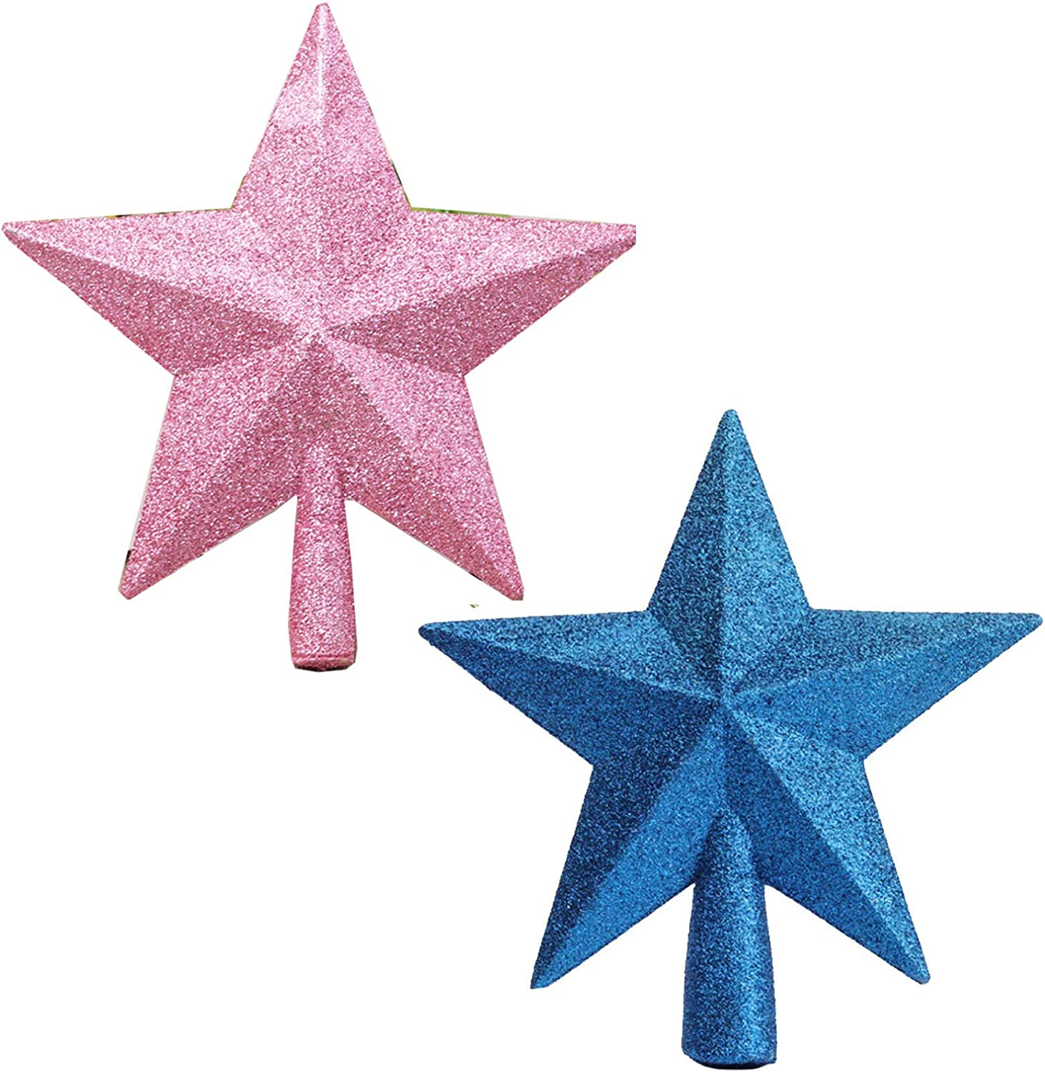 2 Pack Glittered Mini Special Luxury goods price for a limited time Star Topper Treetop fo Tree Christmas
