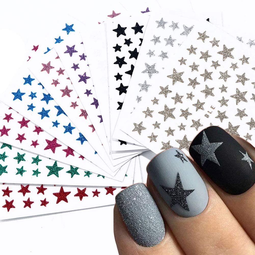 Star Max 71% OFF Nail Art Stickers 3D Louisville-Jefferson County Mall Supplies Self-Adhesive Decals