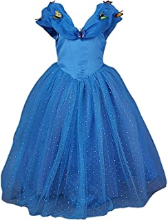 LaBiTi New Cinderella Dress Princess Costume Butterfly Girl