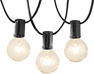 AmazonBasics Patio String Light, 50 Feet, Black