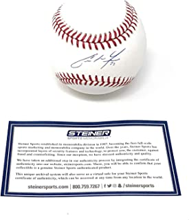 Christian Yelich Milwaukee Brewers Signed Autograph Official MLB Baseball Steiner Sports Certified