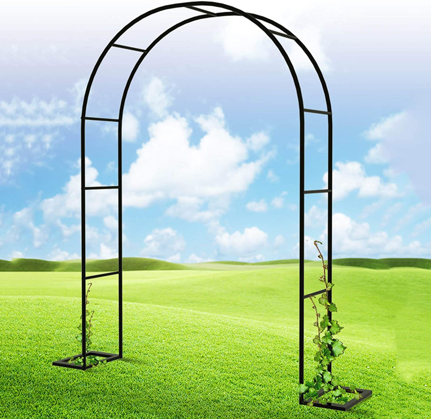 RPFF Metal Arch Stand Directly managed store Elegant Max 63% OFF Garden Various Arbor C Trellis for