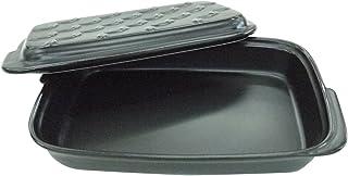 ナカシマ食卓にそのまま出せるグリルパン<ブラック>約奥15.0×幅22.8×高3.5㎝、蓋/約奥15.0×幅22.8×高2.2㎝、セット/約高5.5㎝20422159