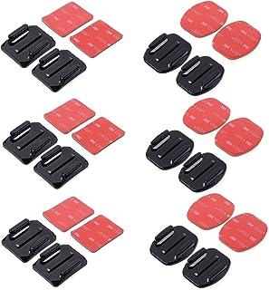 XCSOURCE® 12 pcs Soportes Montajes Piso/ Curvad + 3M Adhesivo Pads Set para Gopro Hero 3+/3/2/1 4 Cámara OS180
