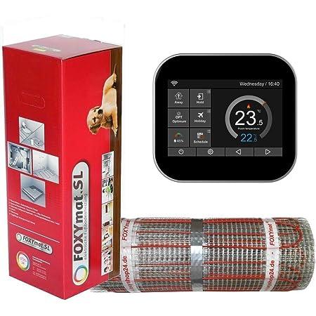 0.5m x 8m 160 Watt pro m/² mit Thermostat FOXYREG SPSW,Komplett-Set 4.0 m/² FOXYSHOP24-elektrische Fu/ßbodenheizung PREMIUM MARKE FOXYMAT.SL