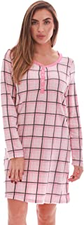 Women's Ultra-Soft Sleep Shirt Nightgown with Matching Fuzzy Socks
