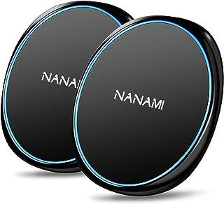 「2台セット」NANAMI ワイヤレス充電器 Qi認証 iPhone SE (第2世代) /11 / 11 Pro / Xs / XR / Xs Max / X / 8 / 8 Plus、 AirPods2 / AriPods Pro、Gala...