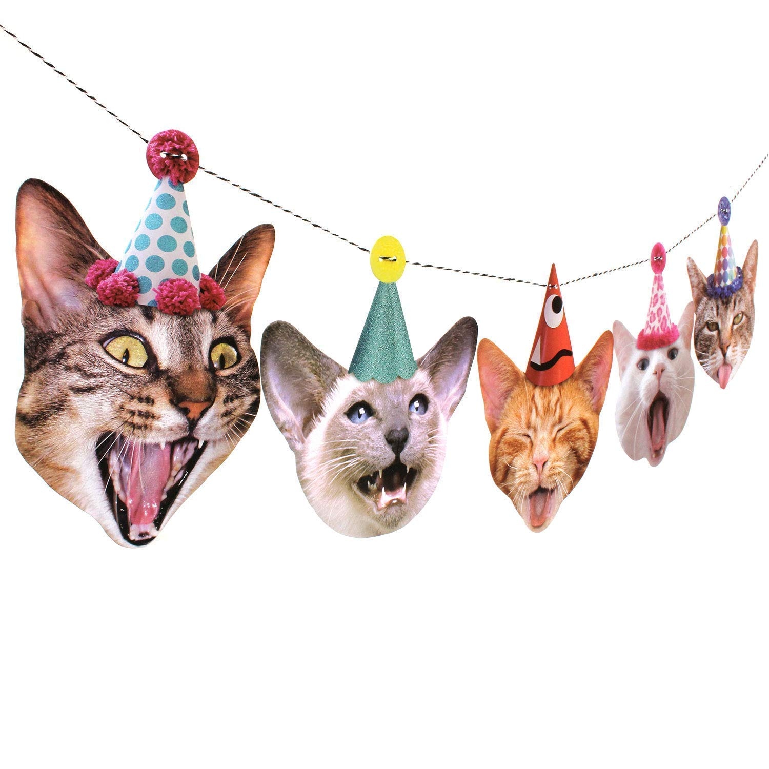 Birthday Cats Garland Limited time trial price party banner decoration Made in Bes Fees free USA
