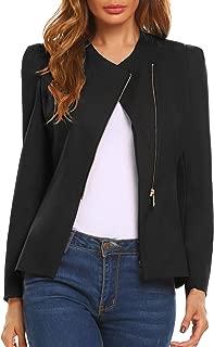 Women's Faux Leather Jacket Classic Moto Biker Short Zip Up Coat