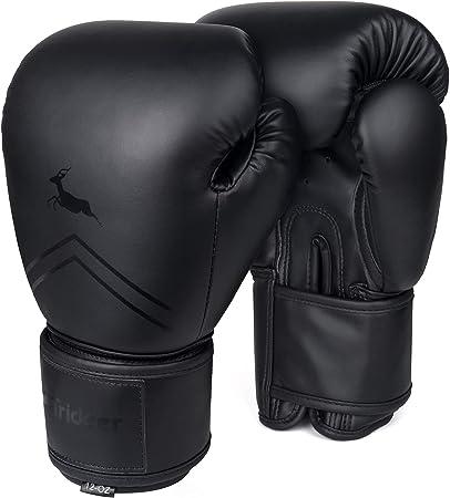 Trideer Pro Grade Boxing Gloves for Men & Women, Kickboxing Bagwork Gel Sparring Training Gloves, Muay Thai Style Punching Bag Mitts, Fight Gloves