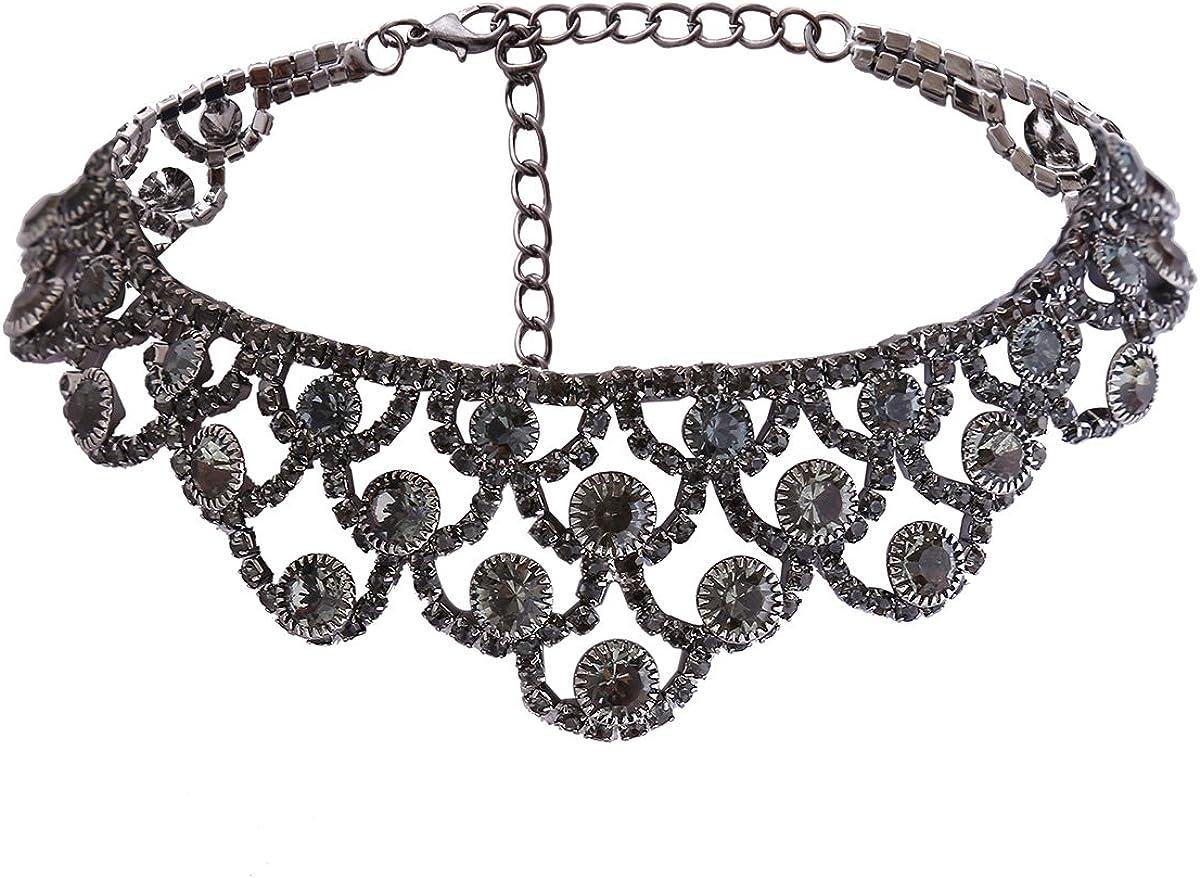 YAZILIND Fashion Collar Rhinestones Necklace Latest Import item Temperament Choker