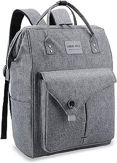 Lekesky Laptop Backpack 15.6 Inch Work Laptop Backpack Computer Backpack Business Backpack Water Repellent Travel Backpack for Women and Men, Grey