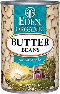 Eden Organic Butter Beans, No Salt Added, 15-Ounce Cans (Pack of 12)