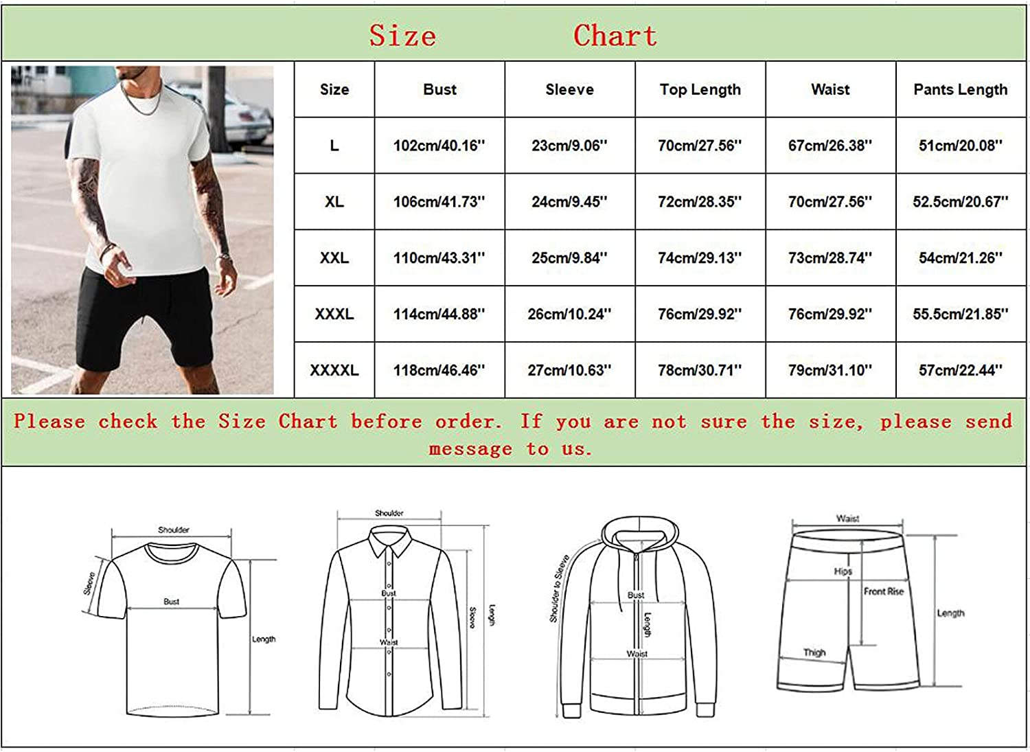 DZQUY Short Set Outfit for Men - Casual Sport 2 Piece Short Sleeve Summer Beach Muscle Shirts and Running Short Tracksuit