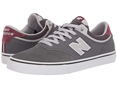 New Balance Numeric NM255 (Grey/Burgundy) Men