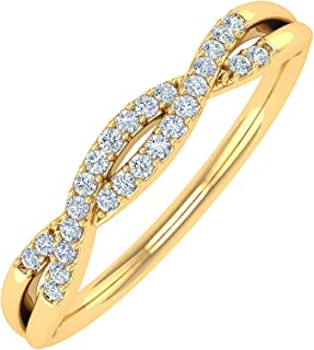 G-H,I2-I3 Diamond Wedding Band in 14K Pink Gold Size-12.75 1//10 cttw,