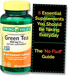 Green Tea Capsules 500 mg (60 ct) + The 'No Fluff' Supplements Guide