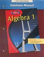 Glencoe Mathematics Algebra 1 Solutions Manual