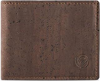 b5560813beca73 Corkor Portefeuille en Liège pour Homme Cartes de Credit Végétalien Vegan  Marron