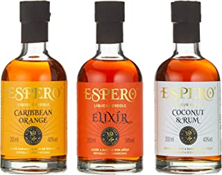 Espero Creole Liqueur Giftset Orange, Cocnut&Rum, Elixir Liköre 3 x 0.2 l