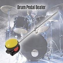 RuleaxAsi Batedor de tambor baixo Batedor de pé Batedor de pé de pedal Aço inoxidável Cabeça de eixo de silicone Acessório...
