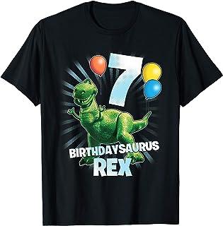 Disney Pixar Toy Story Birthdaysaurus Rex 7th Birthday T-Shirt