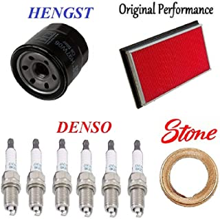 8USAUTO Tune Up Kit Air Cabin Oil Filters Spark Plugs FIT Honda Odyssey V6 3.5L 2002-2004