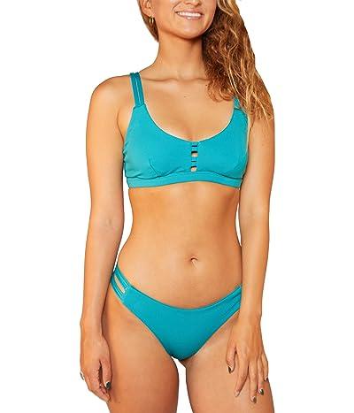 Hurley Max Solid Scoop Bikini Top Women