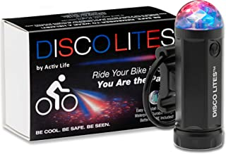 Activ Life Disco Lites - Multi Colored Disco Bike Light - Comes in 4 Great Pattern & Color Choices - Makes a Great Birthday Present or Xmas Gift for Boys, Girls - Batteries Included